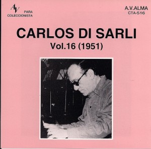 Cover of CTA516, Di Sarli's Music Hall recordings.