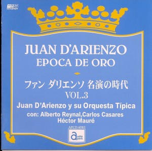 Cover art of Juan D'Arienzo Epoca de Oro CD.