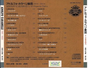 Back sleeve of Disco Latina CD.